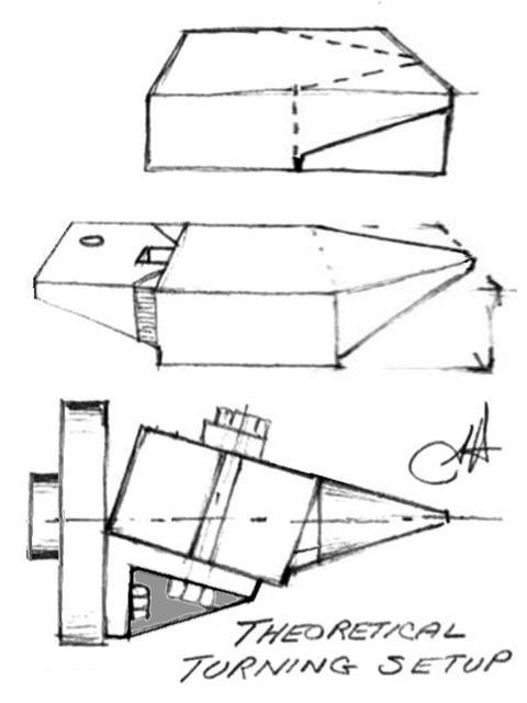 Anvil making drawing by Jock Dempsey