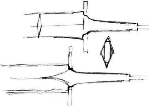 Sword Blade Tang Transitions drawing by Jock Dempsey