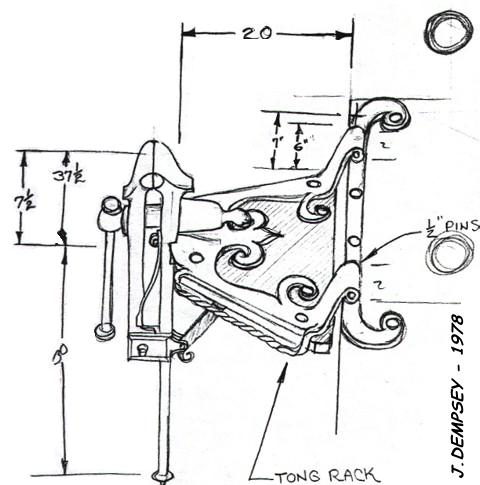 Blacksmith Leg Vise Mounting on triangular bracket