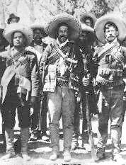 Pancho Villa with friends