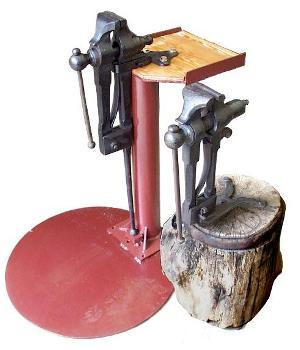 Vise Stands and photo by Jock Dempsey