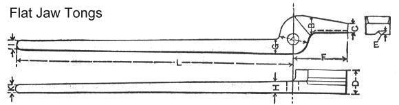 Flat Jaw Tongs Diagram