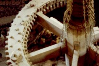 Wooden gear from Dempsey's Old Grist Mill Gladys Virginia