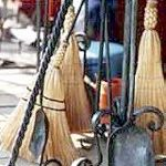 Fire tools by Bill Epps with brooms by Sharon Epps