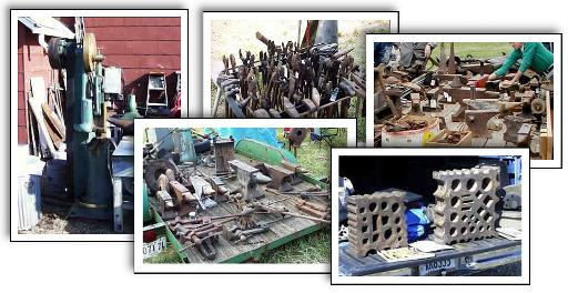 Blacksmith fleamarket scenes from across the world with metalworking tools of all types.